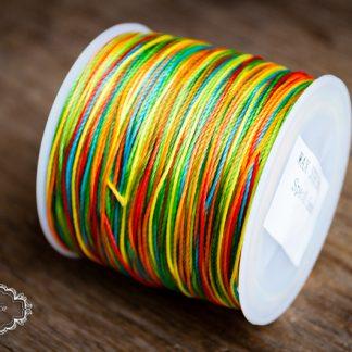 Makrameegarn Polyester gewachst 0.5 mm - bunt