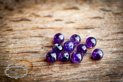 Steinperlen 6mm Amethyst