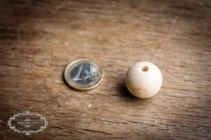 Holzkugel Holzperle natur 20mm mit Bohrung 4mm