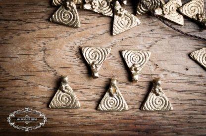 Anhänger Spirale auf Dreieck