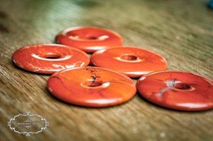 Donut Schmuckstein Roter Jaspis