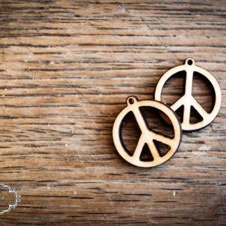 Anhänger Holz Birke PEACE