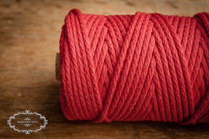 Makrame yarn 4mm cotton red