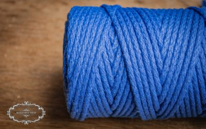 Makrame yarn 4mm cotton royal blue