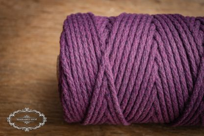 Makrame yarn 4mm cotton Dark Violet