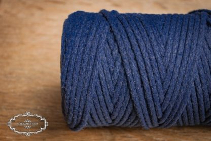 Makrame yarn 4mm cotton navy blue