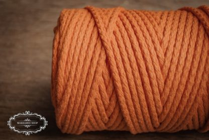 Makrame yarn 4mm cotton orange