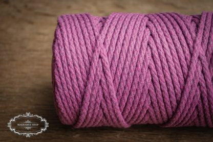 Makrame yarn 4mm cotton violet
