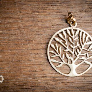 Messinganhänger Lebensbaum. Tree of Life. Charms. Anhänger mit Öse aus Messing.