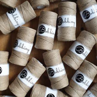 Bobbiny Makrameegarn Baumwolle 1fach gezwirnt 3mm