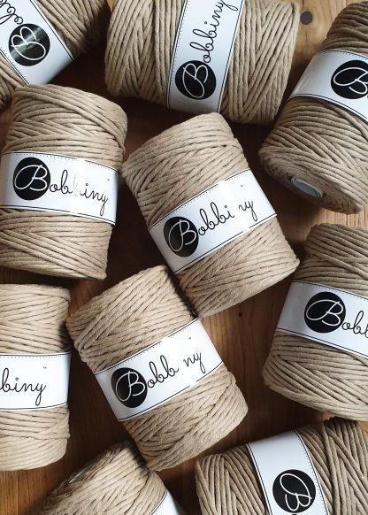 Bobbiny Makrameegarn Baumwolle 1fach gezwirnt 5mm