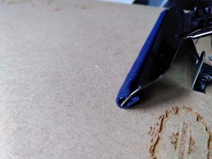 Kantenschutz Knüpfbrett blau Makramee
