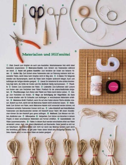 "New Makramee - 25 Knüpfprojekte ""Blick ins Buch"""