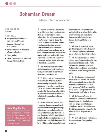 """Traumfänger-Mobiles """"Blick ins Buch"""""""